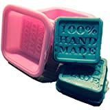 Sungpunet (10-Pack) Soap Molds - 100% Handmade Square Silicon - Sapone