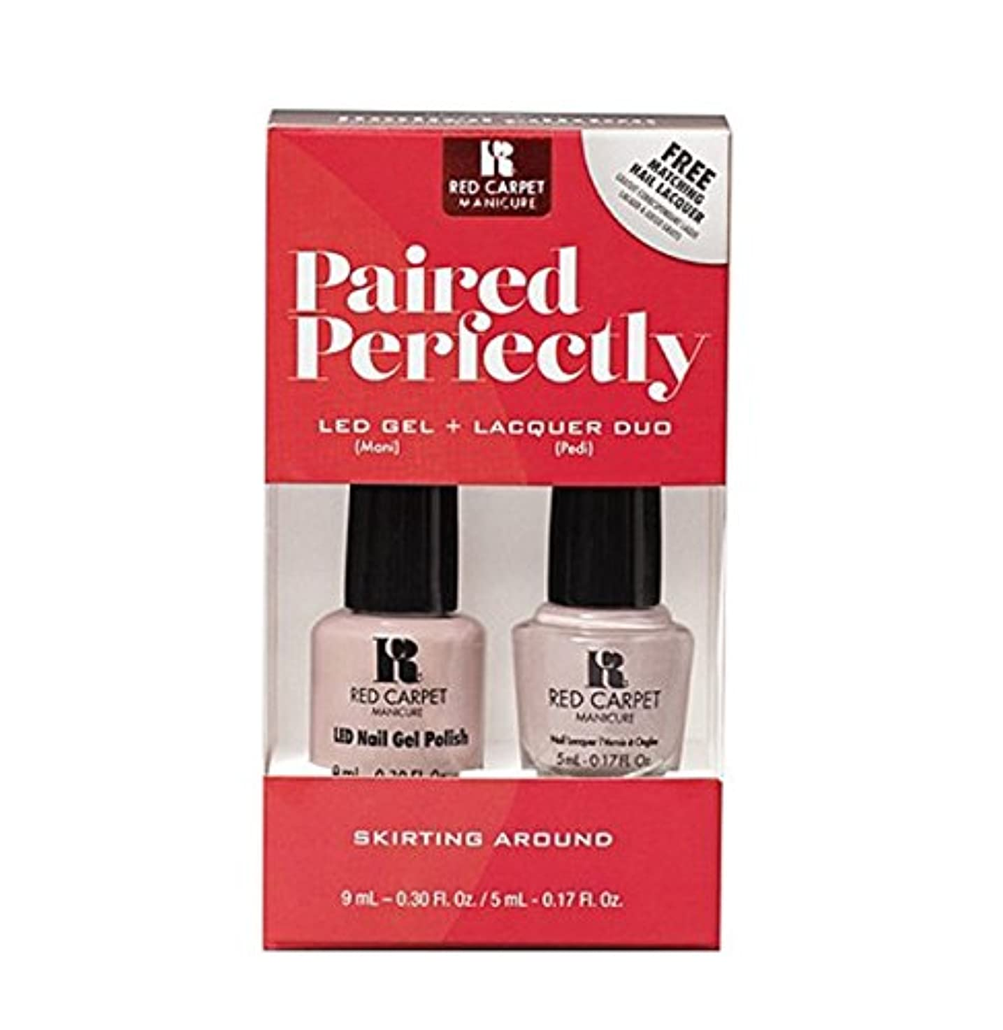 プライムサイズ目を覚ますRed Carpet Manicure - Paired Perfectly GEL & Lacquer DUO - Skirting Around