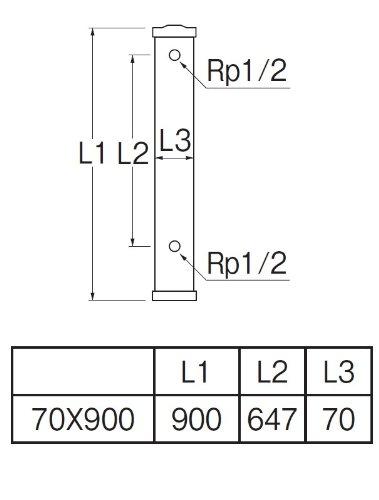 三栄水栓 【屋外水栓設置用の水栓柱】 PC水栓柱 90cm アイボリー T801-70X900-I