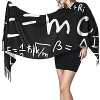 フォーミュラ数学と物理学1女性の秋冬のスカーフクラシックスカーフウォームラップショールクリスマスギフトのために母ガールフレンドシスター