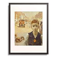 Wood, Ursula 「London Summer (Boy in busy London Street).」 額装アート作品