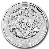 2012年 オーストラリア ・干支・龍・ドラゴン・1/2オンス 銀貨 15.5g シルバー コイン 純銀 高級アクリルカプセル・クリアーケース付き