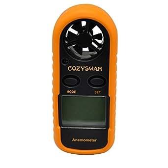 Cozyswanデジタル風速計 風量計 風力計 風速スケール 小型 携帯用 風&温度同時計測