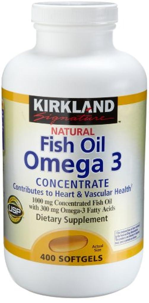 下位変わる未就学Kirkland Natural Fish Oil Omega 3 Concentrate, 400-Count Softgels by Kirkland Signature