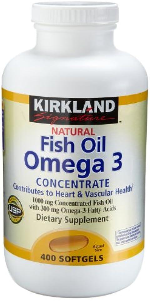 弱めるトチの実の木色Kirkland Natural Fish Oil Omega 3 Concentrate, 400-Count Softgels by Kirkland Signature