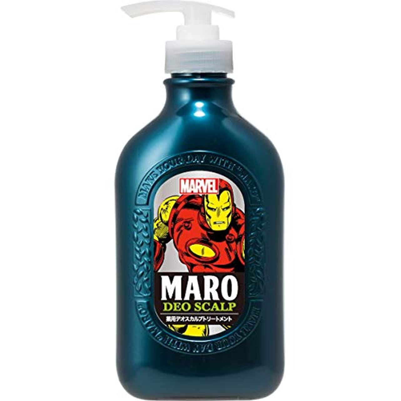 遅い宙返り変動するMARO 薬用 デオスカルプ トリートメント MARVEL コラボデザイン 480ml 【医薬部外品】