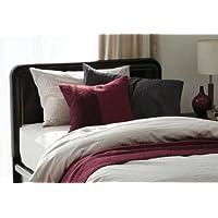 フランスベッド マットレスカバー チャコールグレー 個装サイズ:28×38×6cm ライン&アース、綿100%