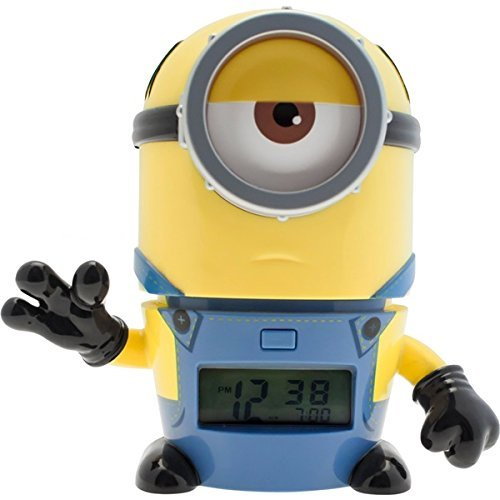 [バルブボッツ]BULBBOTZ LEGO WATCH キッズ おしゃべり 光る目覚まし時計 怪盗グルー ミニオンズ メル 置き...