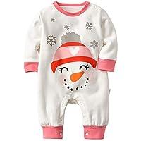 e8a5e3049b35 ALLAIBB Baby Girl Boy Long Sleeve Cute Print Romper Round Neck Cotton  Jumpsuit