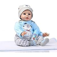 ピンキー22インチソフトシリコン赤ちゃんLifelike Reborn Dolls Realistic Looking Baby Boy新生児人形幼児用誕生日クリスマスギフト