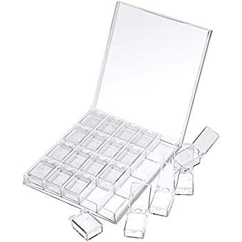 MOOJOO ネイルパーツケース ネイルチップケース ネイルパーツ 収納 マニキュア 収納ケース アクリル 小物 小分け 20 透明