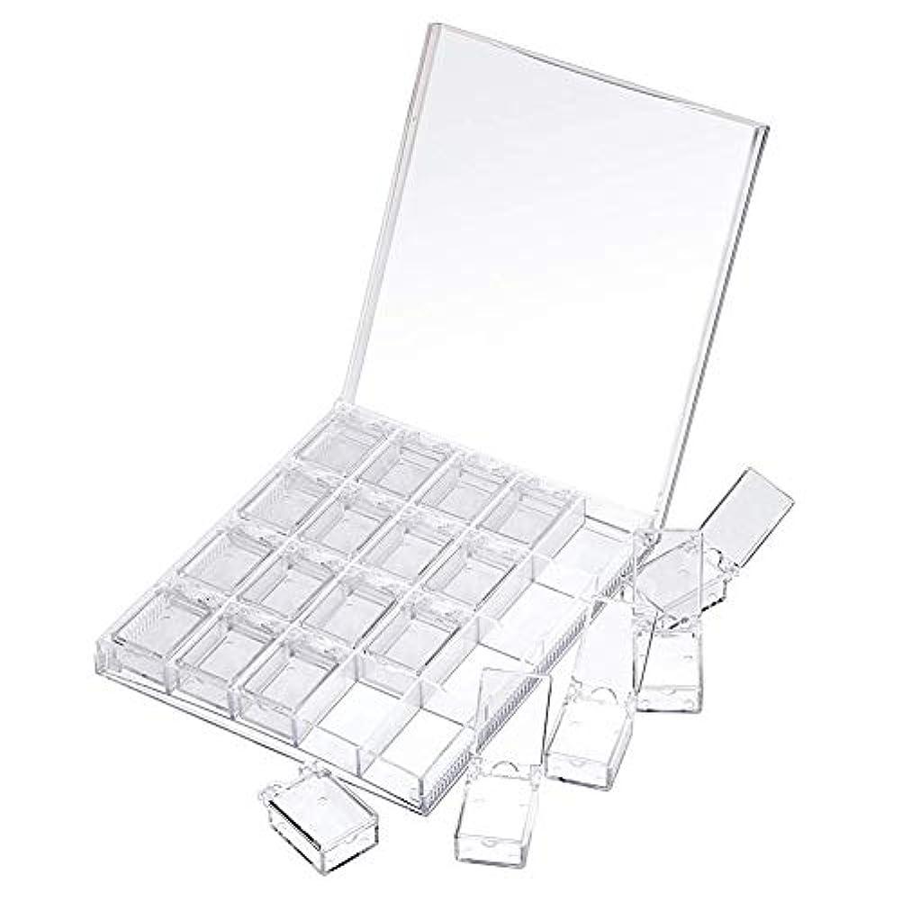 不名誉筋注文MOOJOO ネイルケース ネイル 収納 ボックス 小分け 20セクション 透明