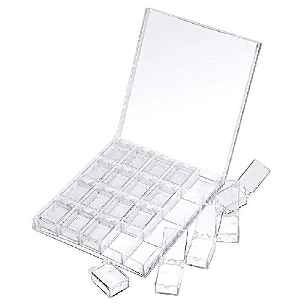 キルス着替えるふさわしいMOOJOO ネイルケース ネイル 収納 ボックス 小分け 20セクション 透明