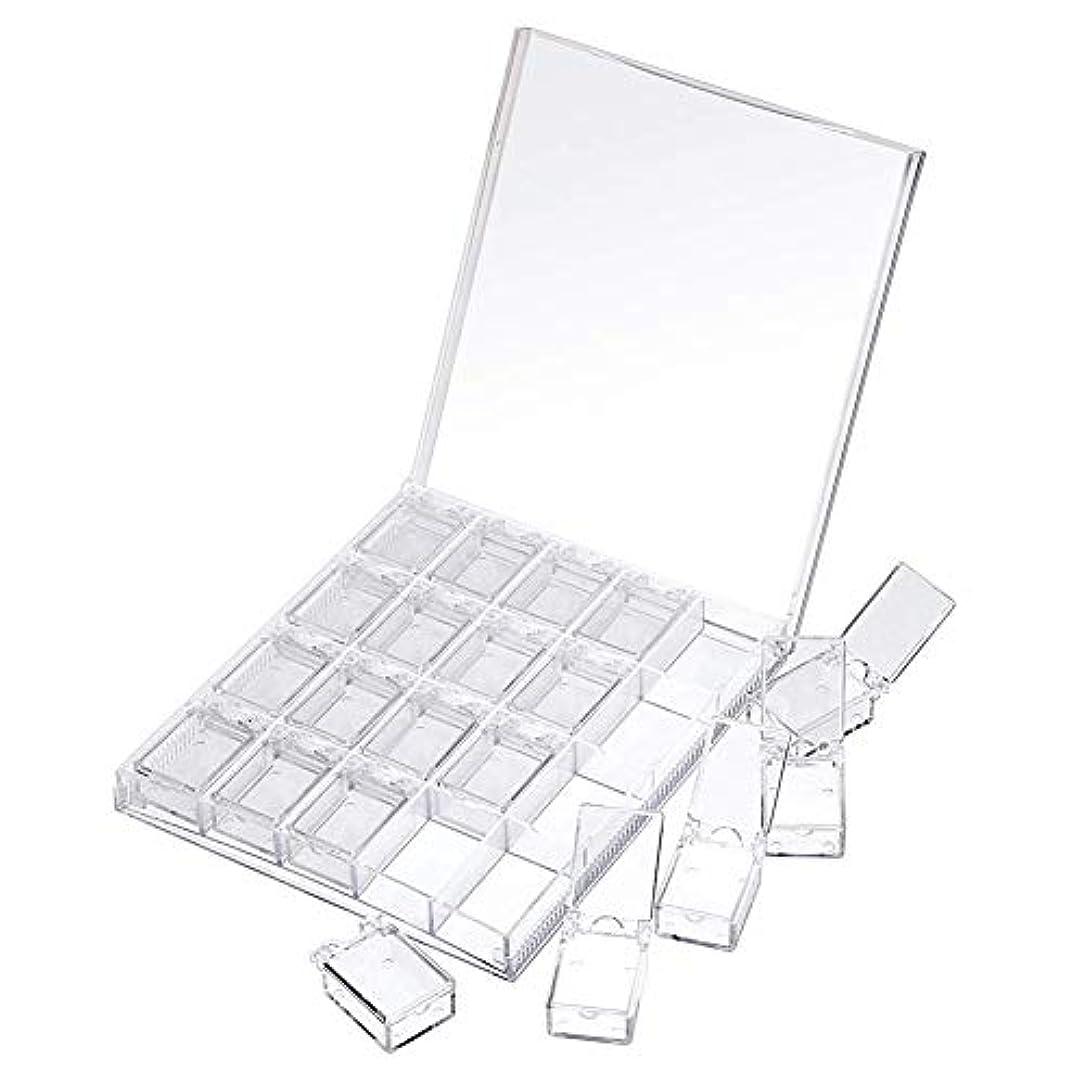 勝利ストライドバラ色MOOJOO ネイルケース ネイル 収納 ボックス 小分け 20セクション 透明