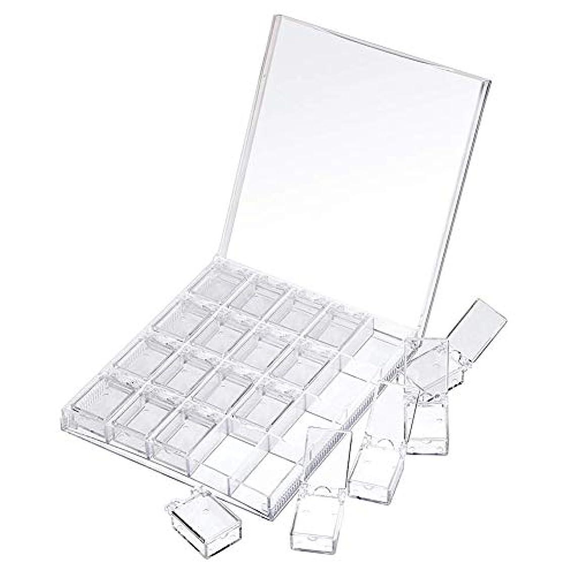 所属休憩自殺MOOJOO ネイルケース ネイル 収納 ボックス 小分け 20セクション 透明