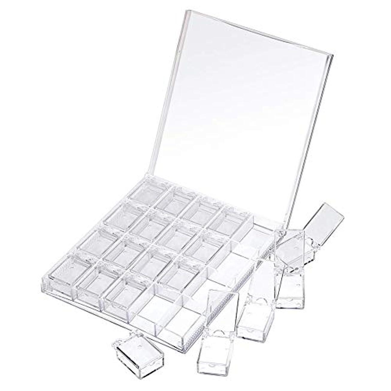 悲観主義者居心地の良い豊かにするMOOJOO ネイルケース ネイル 収納 ボックス 小分け 20セクション 透明
