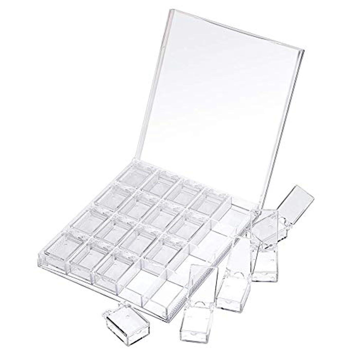 パウダー池税金MOOJOO ネイルケース ネイル 収納 ボックス 小分け 20セクション 透明