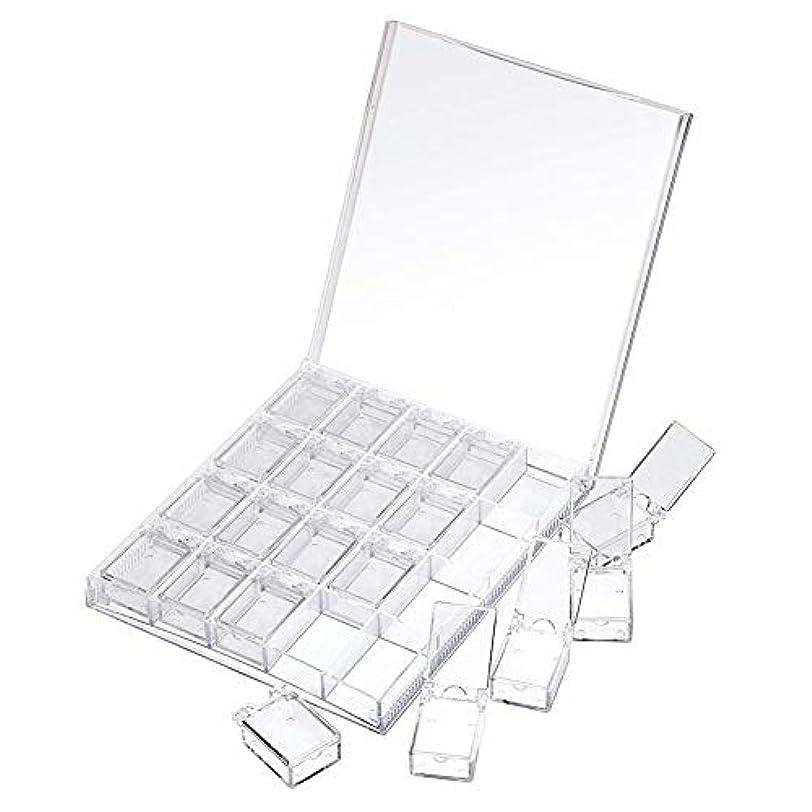 レプリカ事業内容秘書MOOJOO ネイルケース ネイル 収納 ボックス 小分け 20セクション 透明