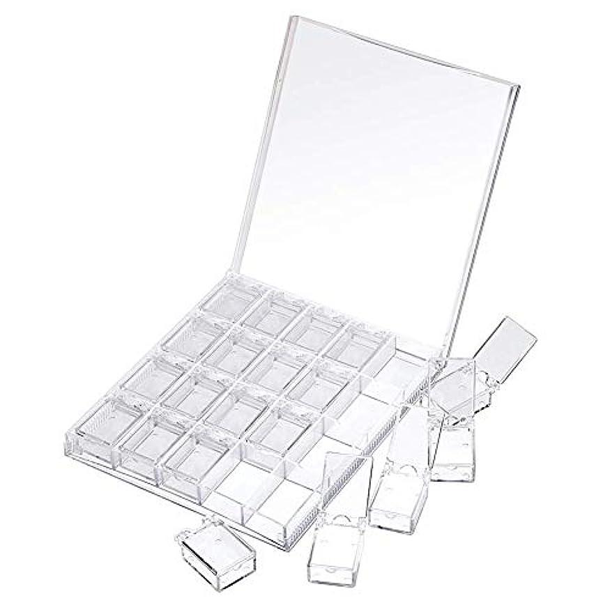 万一に備えてうんざりセットアップMOOJOO ネイルケース ネイル 収納 ボックス 小分け 20セクション 透明