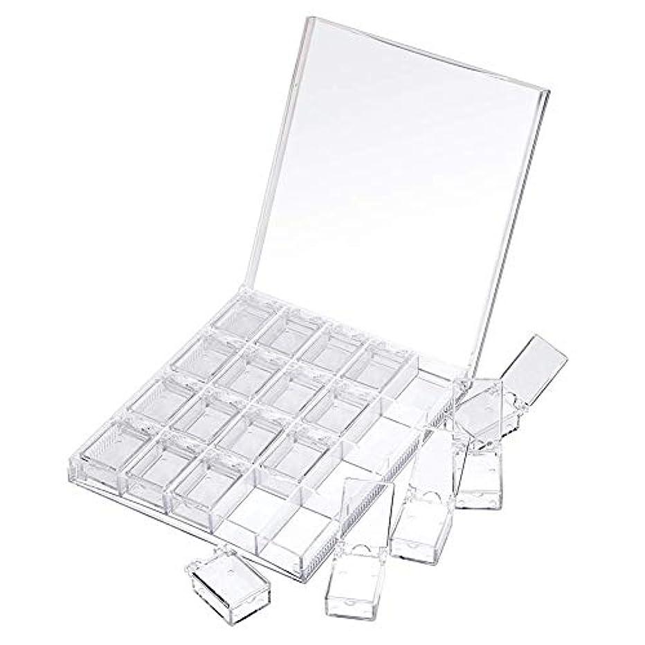 やむを得ない殺人者立証するMOOJOO ネイルケース ネイル 収納 ボックス 小分け 20セクション 透明