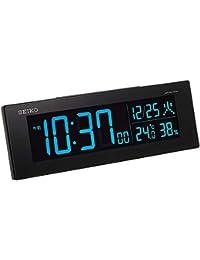 セイコークロック 置き時計 黒 本体サイズ:7.3×22.2×4.4cm 電波 デジタル 交流式 カラー液晶 シリーズC3 値札なし BC406K