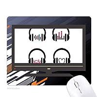 カラフルなヘッドセットは、音楽を聴くパターン ノンスリップラバーマウスパッドはコンピュータゲームのオフィス