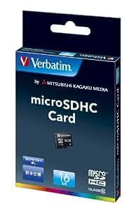 三菱ケミカルメディア Verbatim microSDHCカード 16GB Class10 (SDアダプターなし防水仕様) MHCN16GJVZ1