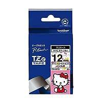 ブラザー工業 TZeテープ ハローキティテープ(ハローキティピンク/黒字) 12mm TZe-HP31