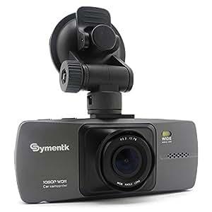 iSaddle ドライブレコーダー 車載ブラックボックス DVRレコーダー ダッシュボード搭載カメラ ビデオカムコーダー - Full HD 1080P対応 H.264+アドバンスWDR機能 広角170° 6Gレンズ+Gセンサー+ナイトビジョン+モーションディテクター+ナンバープレートスタンプ(純正 NT96650 + AR0330) [Symentk SK220 グレー]