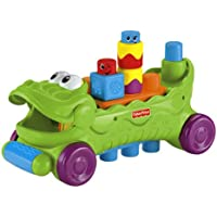 Fisher-Price Stack 'n Surprise Musical Croc Block Wagon