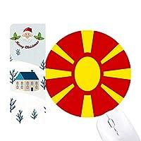 マケドニアのヨーロッパの国家エンブレム サンタクロース家屋ゴムのマウスパッド