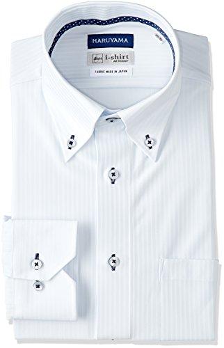 (はるやま) HARUYAMA(ハルヤマ) i-shirt 完全ノーアイロン 長袖 ボタンダウンアイシャツ M151180051 81 サックス M(首回り39cm×裄丈82cm)