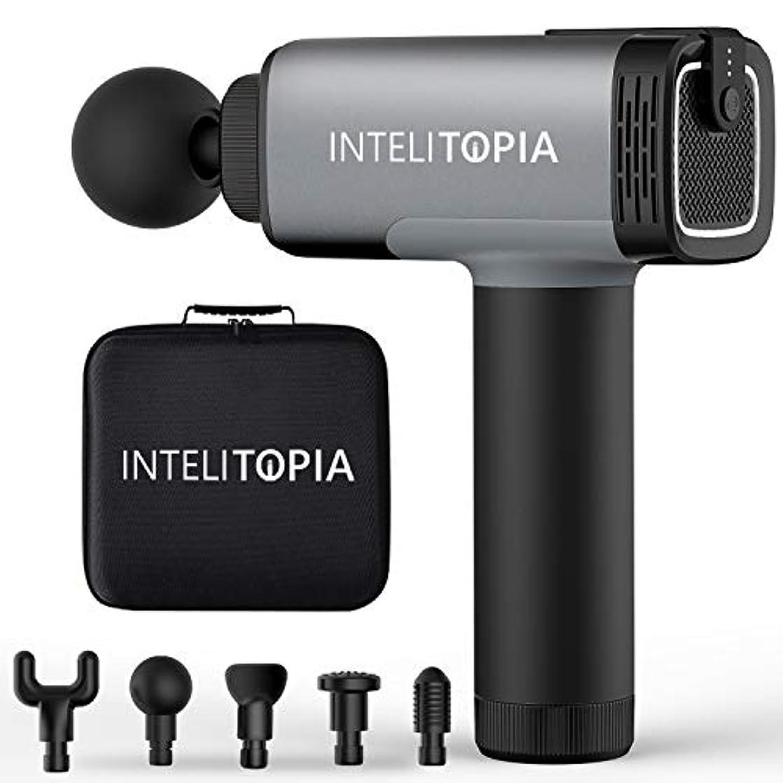 構成員混乱できた[Upgrade Version] Intelitopia Massage Gun, Percussion Cordless Handheld Deep Tissue Massager for Muscle, Powerful...