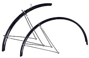 RITEWAY(ライトウェイ) 自転車フェンダー ダブルステークロスバイクフルフェンダー 泥除け 前後セット 700C用 幅35MM グロスブラック 365551
