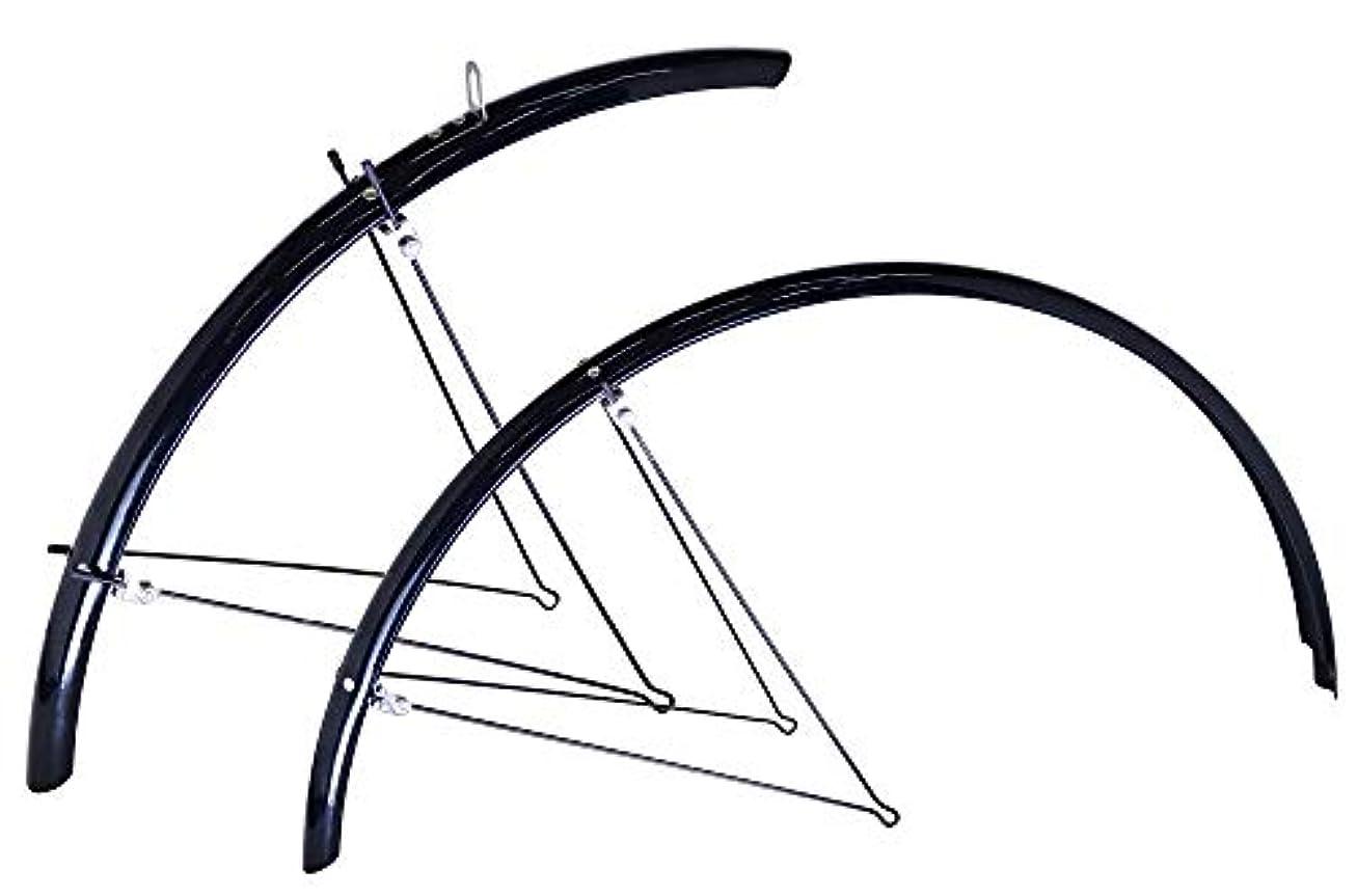 クリケットアカデミックに話すRITEWAY(ライトウェイ) 自転車フェンダー ダブルステークロスバイクフルフェンダー 泥除け 前後セット