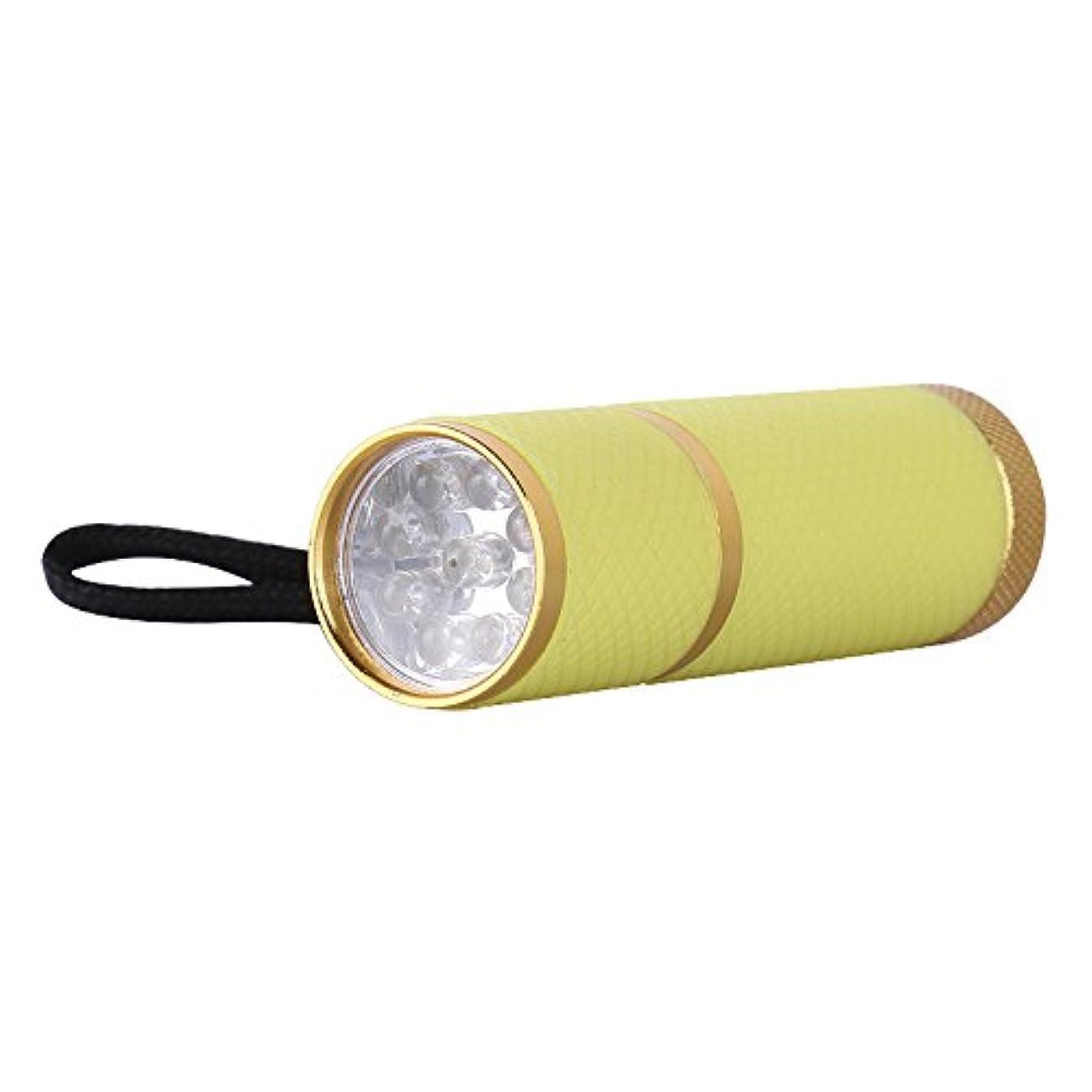 雇った宿題をするご注意ジェルネイル ライト ペン型 9w 黄色 9灯付き 速いネイル硬化 UVジェルも対応 4色選べる (イエロー)