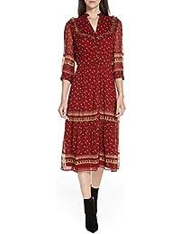 (バッシュ) ba&sh Barie Ruffle Print Midi Dress バリー?ラッフルプリントミディアムドレス (並行輸入品)