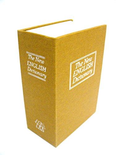 家庭用 ポケットサイズ 辞書 型 隠し金庫 カギ付き 印鑑 ケース 指輪 ネックレス の 収納にも (ベージュ)