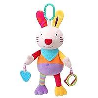 玩具ぬいぐるみをぶら下げかわいいベビーベルの手をつかみ、教育玩具幼児のベッド