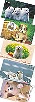 いぬ図柄アソート 未使用テレホンカード テレカ 50度数×5枚 (動物・イヌ・犬・子犬)