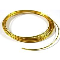 紗や工房 アーティストワイヤー 径約1.5mm 約4m イエローゴールド カラーアルミワイヤー ワイヤークラフト材料 手.