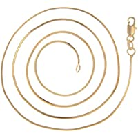 VPbao 2pcs Women Plated Gold Necklace Snake Chain Set