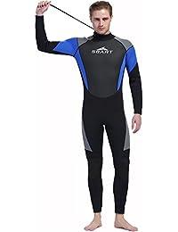 InitialG【イニシャルジー】ウェットスーツ メンズ フルスーツ ダイビングスーツ 3mm 水着 マリンスポーツ 水泳 スイムウエア 008-yr-1026(2XL )