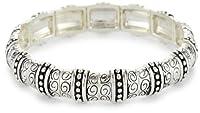 [ネイピア]Napier Silver-Tone Textured Stretch Bracelet ブレスレット ジュエリー[並行輸入品]