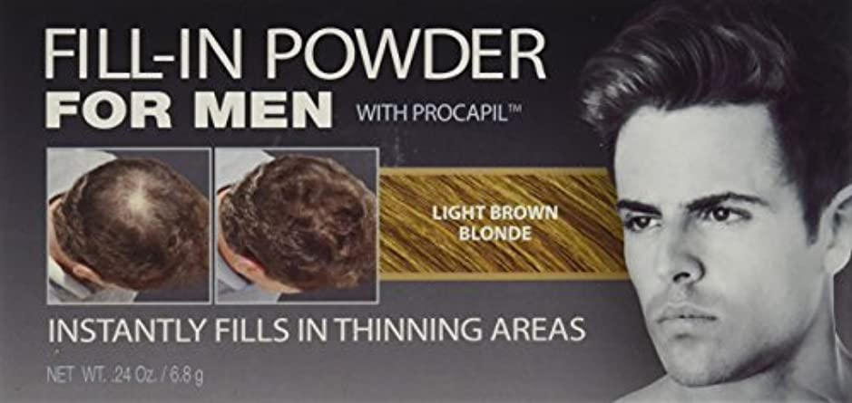 市町村びっくりしたドライブCover Your Gray Fill-In Powder for Men Light Brown/Blond (並行輸入品)