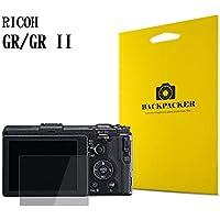【BACKPACKER】 カメラ液晶保護ガラス 液晶プロテクター 0.33mm強化ガラス使用 9H硬度 高鮮明 RICOH GR II/GR 用