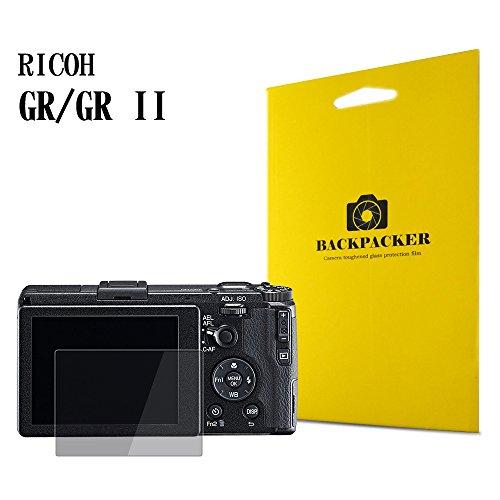 BACKPACKER カメラ液晶保護ガラス 液晶プロテクター 0.33mm強化ガラス使用 9H硬度 高鮮明 RICOH GR II/GR 用
