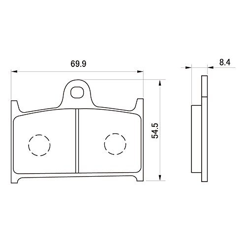 デイトナ(DAYTONA) ブレーキパッド 赤パッド フロント:GSF1200/GSX-R1100/RF900R など 79819