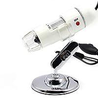 JX-SHOPPU TVマイクロスコープ デジタル顕微鏡 テレビスコープ 最高倍率400倍 高輝度LED8個搭載 白色光 鮮明 ACアダプタ/AVケーブル付属