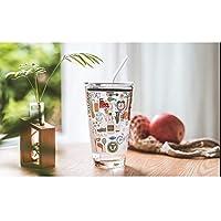 JIAYIZS カップストローカップツールを計量カップホーム子供の朝食カップ耐熱かわいいカップベーキングを測定ガラス (Size : D)